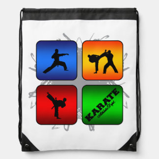 Amazing Karate Urban Style Drawstring Bag