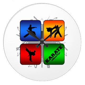 Amazing Karate Urban Style Large Clock