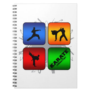 Amazing Karate Urban Style Spiral Note Book