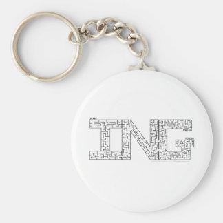 Amazing Basic Round Button Key Ring