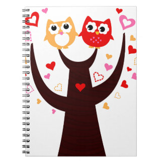 Amazing Love birds colorful on Tree Notebook