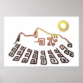 Amazing Machu_Picchu Cusco Peru Drawing Poster