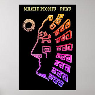 Amazing Machu Picchu Drawing Poster