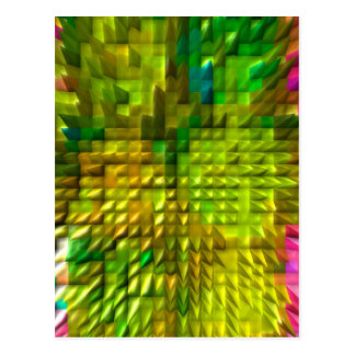 Amazing Magical Diamond Patterns 12  V1 Postcard