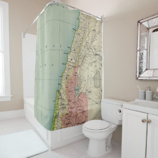 Amazing Map of Israel Antique Shower Curtain