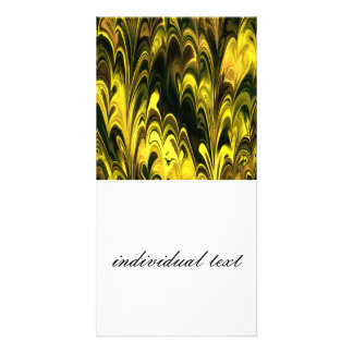 Amazing Marbled Fractal (L) Personalized Photo Card