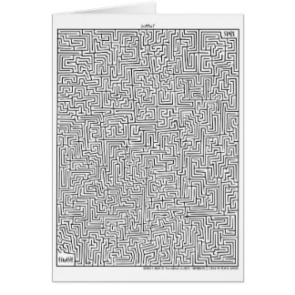 Amazing MAze! Mayan 1 Greeting Card