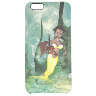 Amazing mermaid with fantasy fish clear iPhone 6 plus case