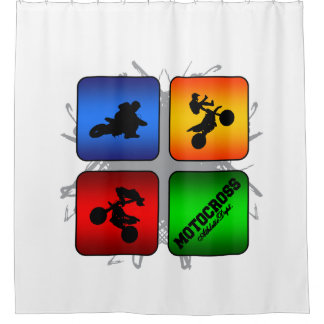 Amazing Motocross Urban Style Shower Curtain