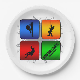 Amazing Mountain Climbing Urban Style Paper Plate