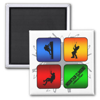 Amazing Mountain Climbing Urban Style Square Magnet