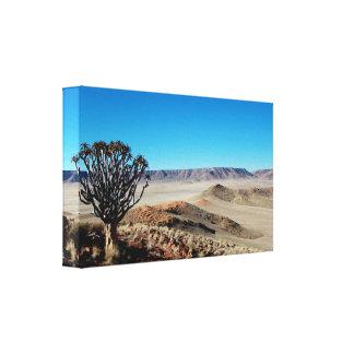 Amazing Namibian Landscape Stretched Canvas Print