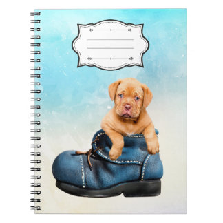 Amazing Notebook with a puppy dog photo and name.