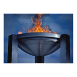 Amazing olympic flame 5x7 paper invitation card