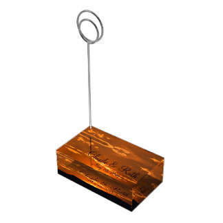Amazing orange sunset mountain table card holder