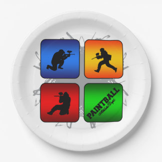 Amazing Paintball Urban Style Paper Plate