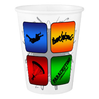 Amazing Parachuting Urban Style Paper Cup