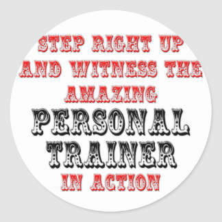 Amazing Personal Trainer In Action Sticker