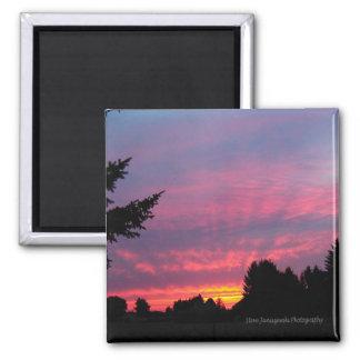 Amazing Pink Sunset Magnet