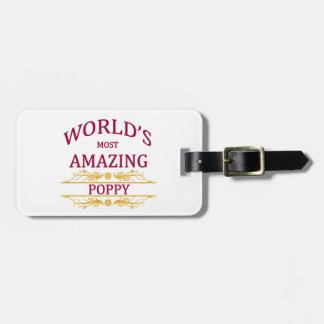 Amazing Poppy Luggage Tag