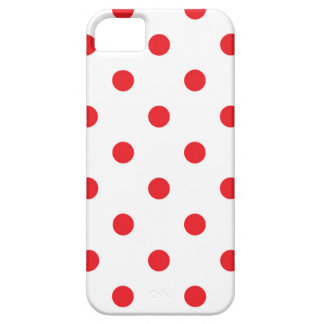 Amazing red dots on white iPhone 5 case