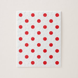 Amazing red dots on white jigsaw puzzle