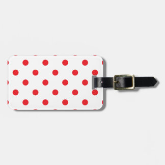 Amazing red dots on white luggage tag