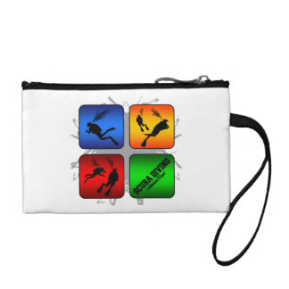Amazing Scuba Diving Urban Style Coin Wallets