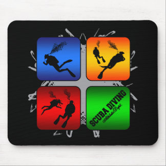 Amazing Scuba Diving Urban Style Mouse Pad