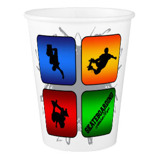 Amazing Skateboarding Urban Style Paper Cup