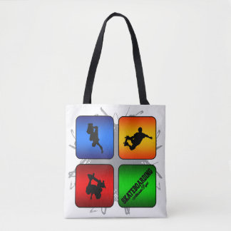 Amazing Skateboarding Urban Style Tote Bag