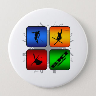 Amazing Ski Urban Style 10 Cm Round Badge