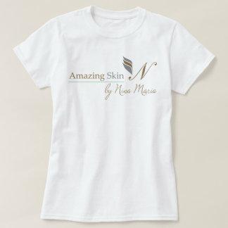 Amazing Skin Logo - Silver and Gold Shirt
