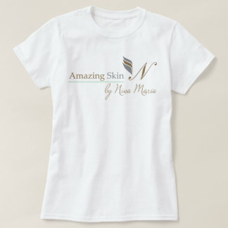 Amazing Skin Logo - Silver and Gold T-Shirt