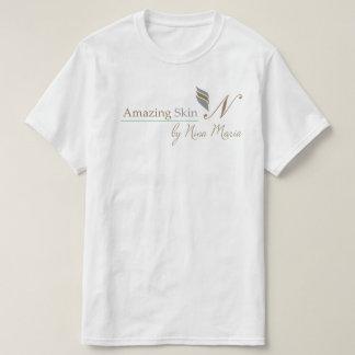 Amazing Skin Logo - Silver and Gold Tshirts