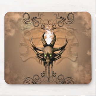 Amazing skull with floral elements mouse pad