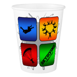 Amazing Skydiving Urban Style Paper Cup