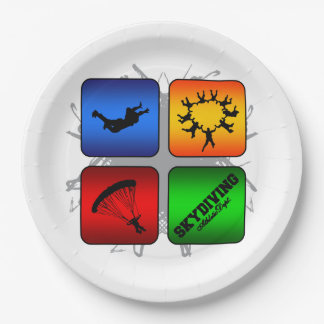Amazing Skydiving Urban Style Paper Plate