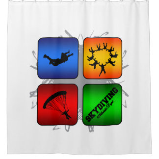Amazing Skydiving Urban Style Shower Curtain