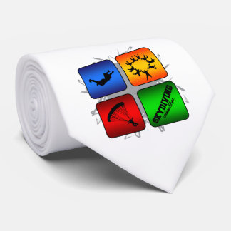 Amazing Skydiving Urban Style Tie