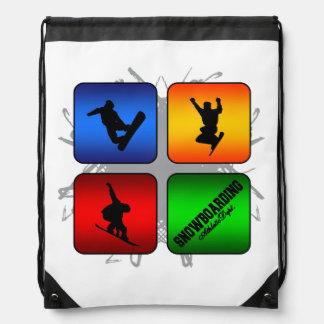 Amazing Snowboarding Urban Style Drawstring Bag