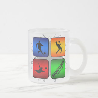 Amazing Soccer Urban Style Frosted Glass Coffee Mug