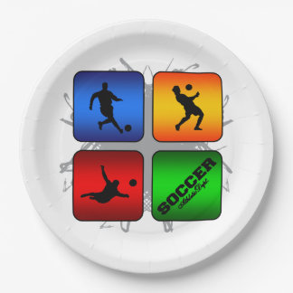 Amazing Soccer Urban Style Paper Plate