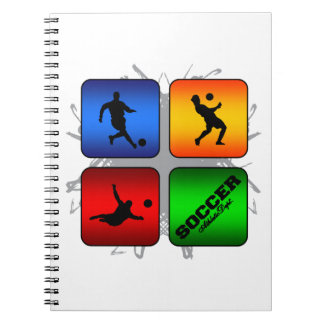 Amazing Soccer Urban Style Spiral Notebook