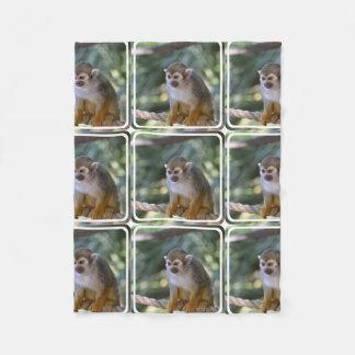 Amazing Squirrel Monkey Fleece Blanket