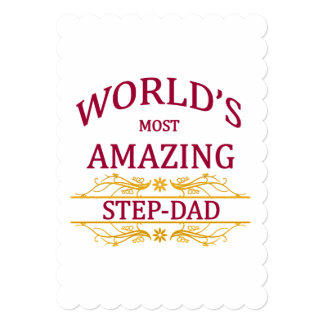 Amazing Step-Dad 13 Cm X 18 Cm Invitation Card