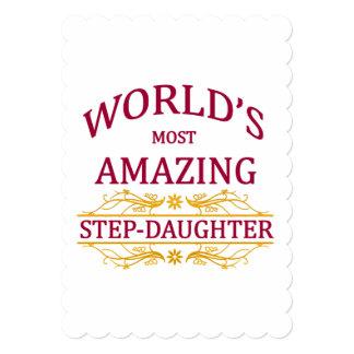 Amazing Step-Daughter 13 Cm X 18 Cm Invitation Card