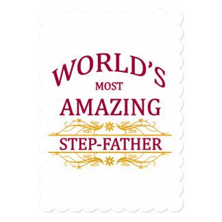 Amazing Step-Father 13 Cm X 18 Cm Invitation Card