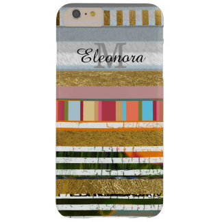 amazing striped design with your name on it barely there iPhone 6 plus case