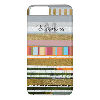 amazing striped design with your name on it iPhone 7 plus case
